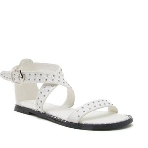 Shoes - Moving Sale! Studded White Sandals